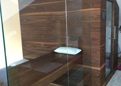 Sauna mit Wärmekabine